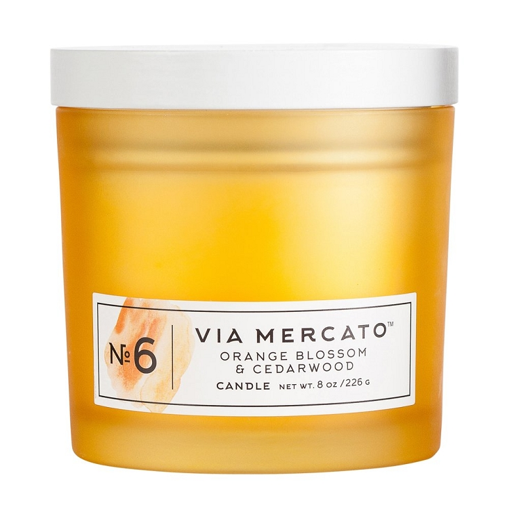 Orange Blossom & Cedarwood No.6 - Via Mercato - Soy Candle - 8 oz - Sale/Final Cut