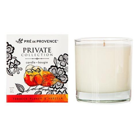 Tobacco Flower & Vanilla - Pre de Provence - Private Collection - Soy Candle - 8oz