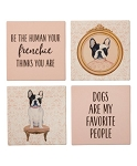 French Bulldog Absorbent Stone Coasters