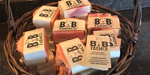 B and B Farm Co. Natural Goat's Milk Soaps & Lotions