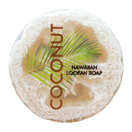 Coconut Loofah Soap - Sea Salt & Kukui Oil - Pure Hawaiian Soap - 4.7oz