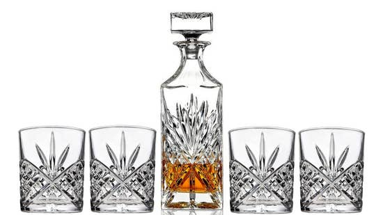 Italian Crafted Glass Decanter Set