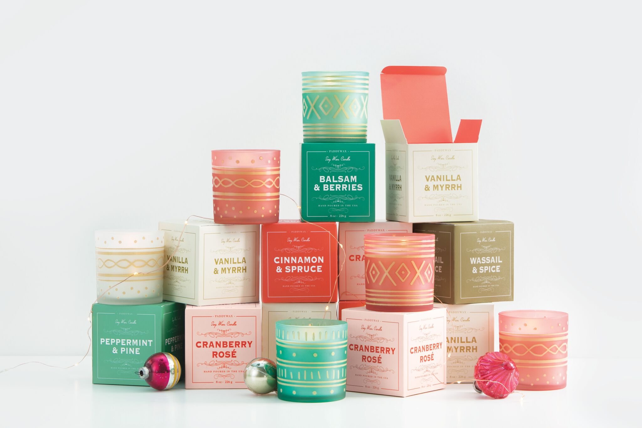 Paddywax Holiday Soy Candle Collection