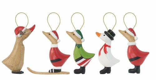 DCUK - Painted Holiday Duck Ornaments