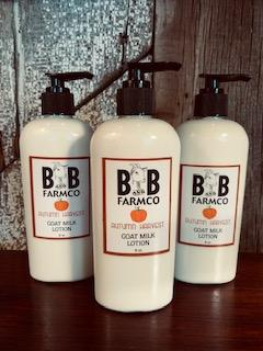 Autumn Harvest - B and B Farm Co - Natural Goat's Milk Body Lotion - 8oz