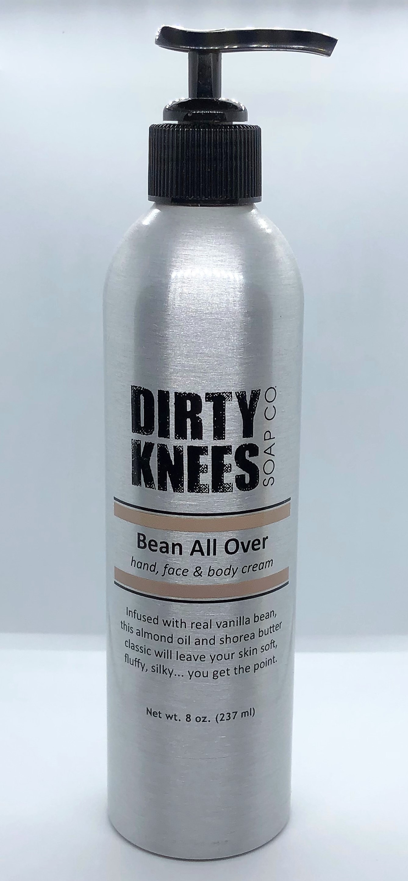 Bean All Over - Hand, Face, & Body Cream - Dirty Knees Soap - 8oz - Sale/Final Cut