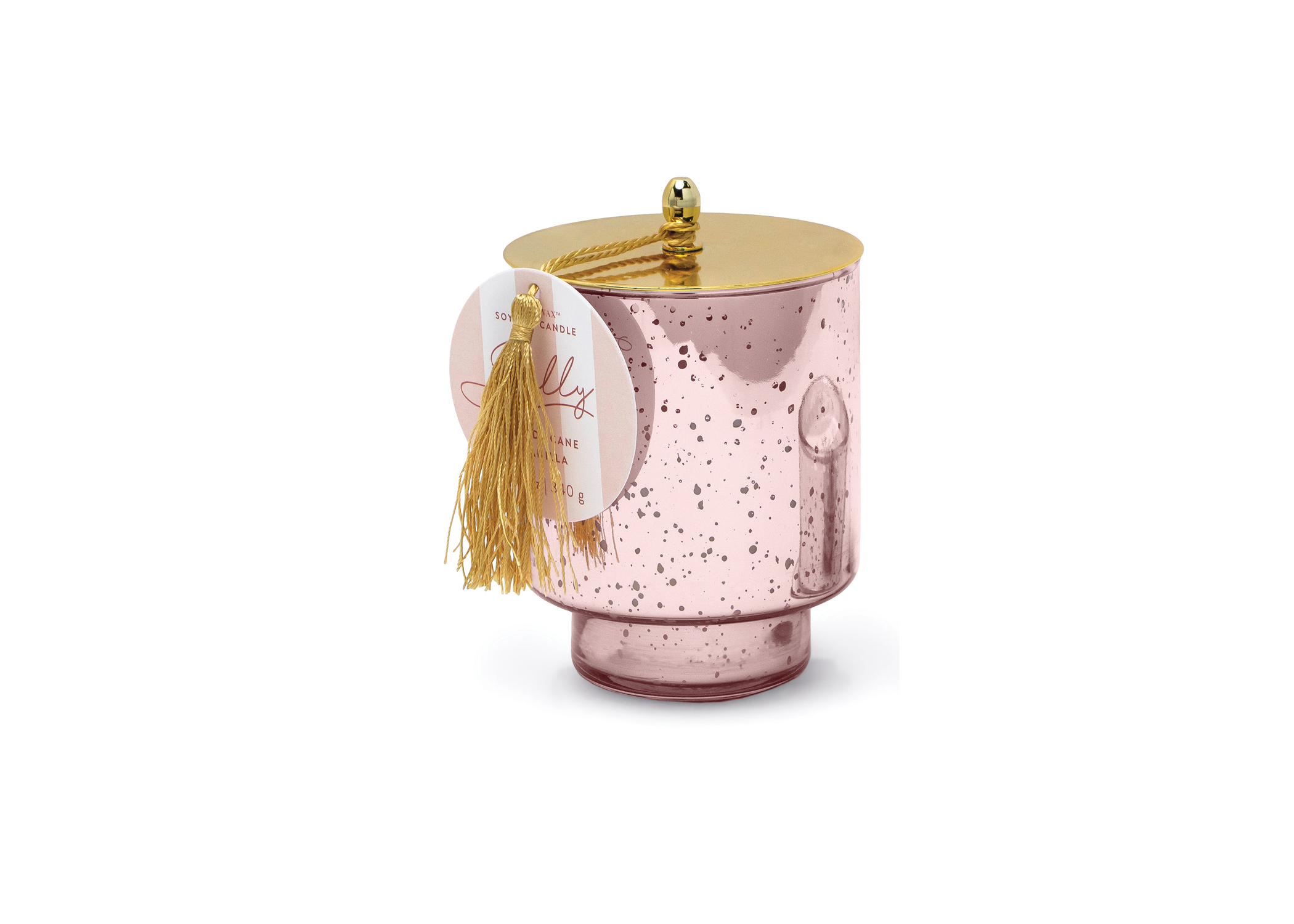 Candy Cane Vanilla - Paddywax - Holiday Tinsel - Soy Candle - 12oz