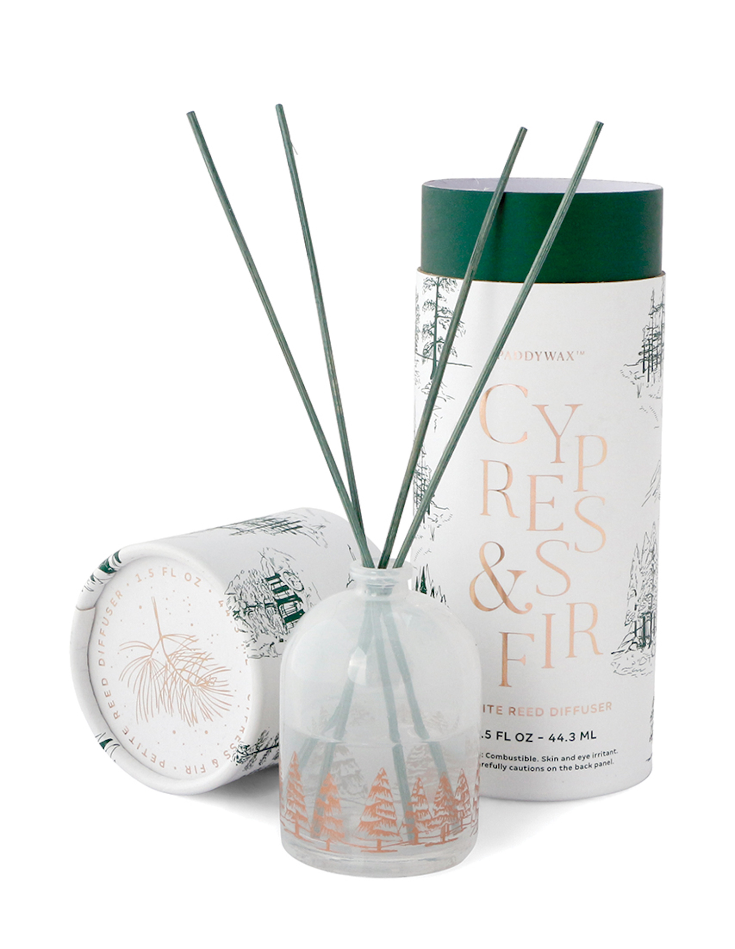 Cypress & Fir - Paddywax Mini Reed Diffuser - 1.5oz