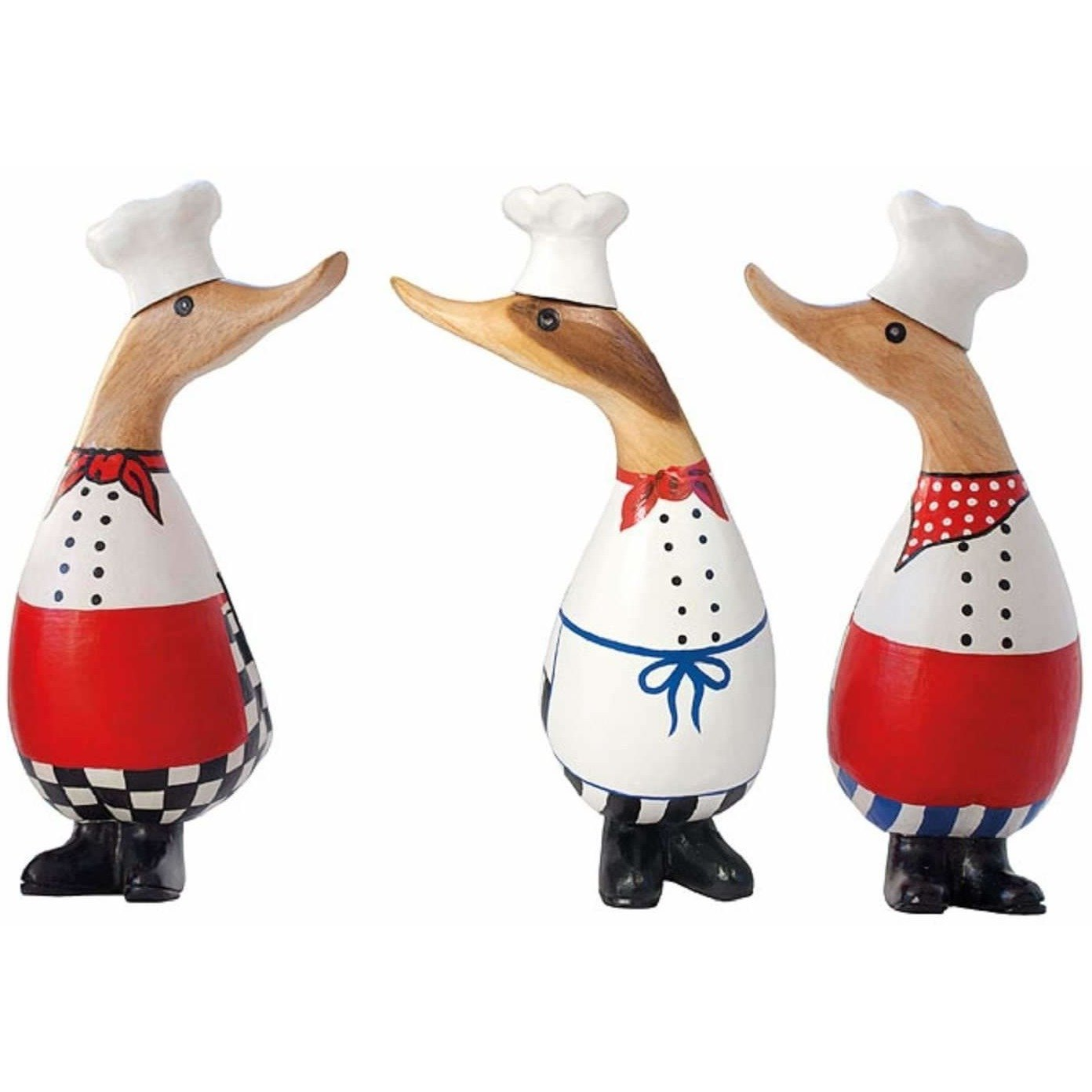 DCUK - Small Hand Painted Chef Wooden Duckling