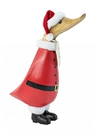 DCUK - Small Holiday Santa Painted Wooden Duckling
