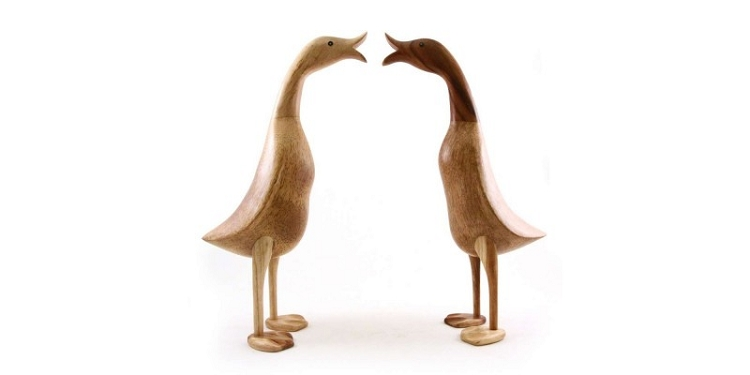 Dcuk Large Natural Wooden Duck