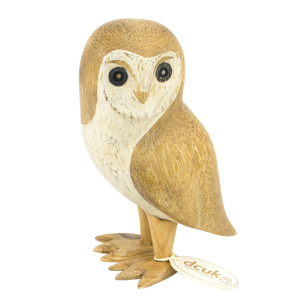 DCUK - Small  Natural Wooden Barn Owl