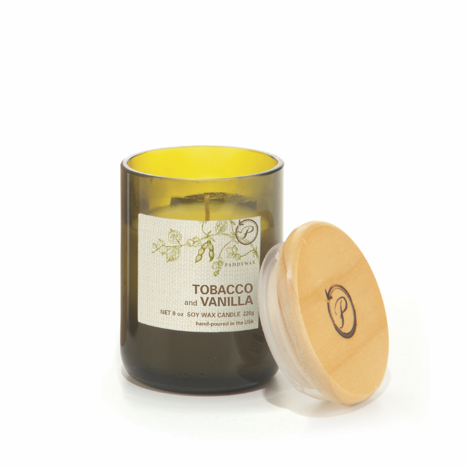 Tobacco & Vanilla - Paddywax Eco Green - Soy Candle - 8 oz