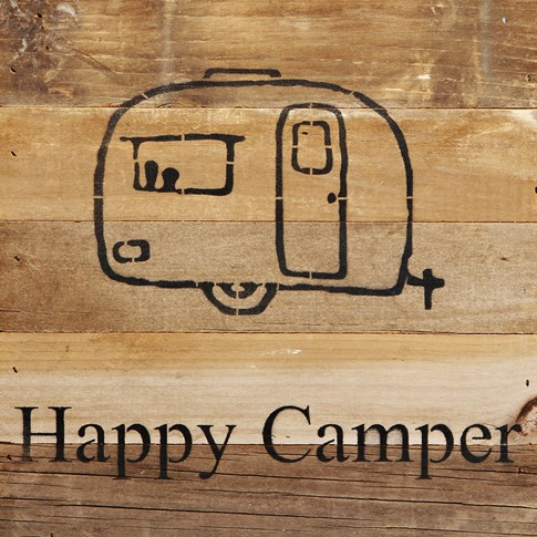 Happy Camper - Reclaimed Wood Wall Art