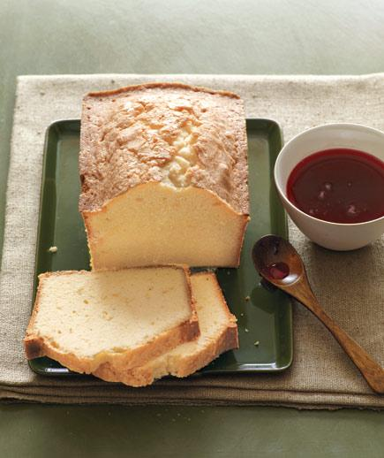 Pound Cake with Cranberry Syrup