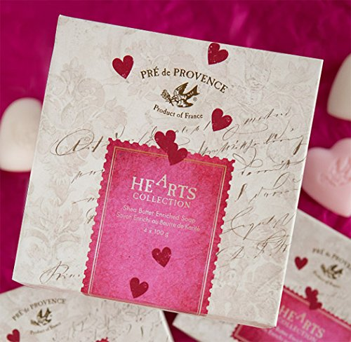 Camelia & Tea Rose - Pre de Provence - French Heart Soap - Hearts of Provence Gift Box - 4 x 100g - Sale/Final Cut