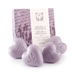 Lavender - Pre de Provence - French Heart Soap - Hearts of Provence Gift Box - 4 x 25g