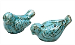 Blue Terra Cotta Birds