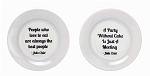 Julia Child Stoneware Plates with Quotes - Sale/Final Cut