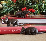 Rustic Cast Iron Mouse Home Decor - 5 Inch