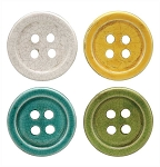 Round Terra Cotta Button Coasters - 4.2 Inch