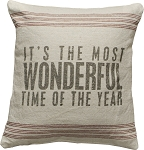 It's The Most Wonderful Time of The Year - Decor Pillow