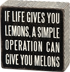 If Life Gives You Lemons - Box Wall Sign
