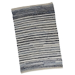 Denim Stripe Chindi Accent Rug