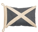 Nautical Pillow - Blue with White X