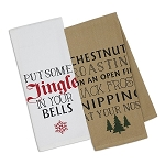 Christmas Fireside - Printed Dish Towels