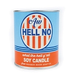 Aw Hell No - Whiskey River Soap - Vintage Paint Can Soy Candle - 17oz