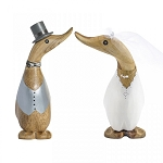 DCUK - Small Hand Painted Bride or Groom Wooden Duckling