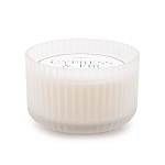 Cypress & Fir - Paddywax Frosted White Wide Ribbed Glass Soy Candle - 15oz