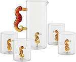 Seahorse - Glass Decanter Set
