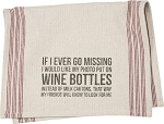 Photo Put On Wine Bottles - Dish Towel