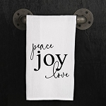 Peace Love Joy - Kitchen Dish Towel