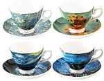 Vincent van Gogh - Bone China - Tea Cup & Saucer - Set of 4