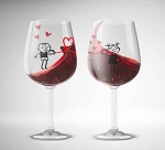 Whimsical Love - Wine Glass Set of 2