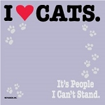 I Love Cats. It's People I Can't Stand. - Post-it / Sticky Notes - Sale/Final Cut