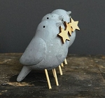 Cement Bird with Star