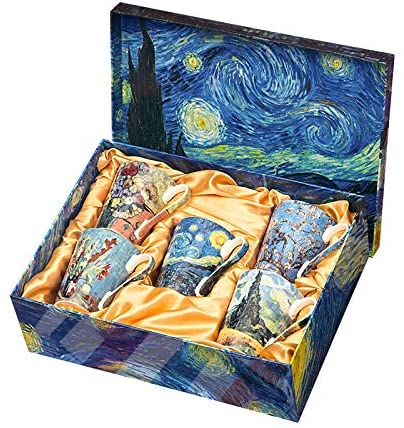 Vincent van Gogh - Bone China - Coffee/Tea Mug - Set of 5