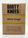 White Ginger Bar Soap - Dirty Knees Soap - 4.2 oz / 119g