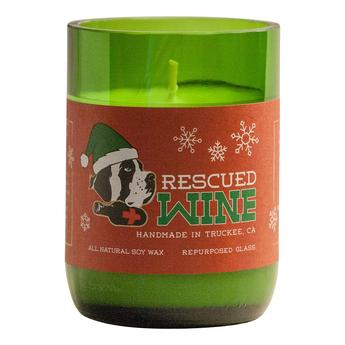 Wine for the Holidays - Rescued Wine Soy Candle - 12oz