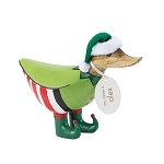 DCUK - Mini Holiday Elf Painted Wooden Ducky