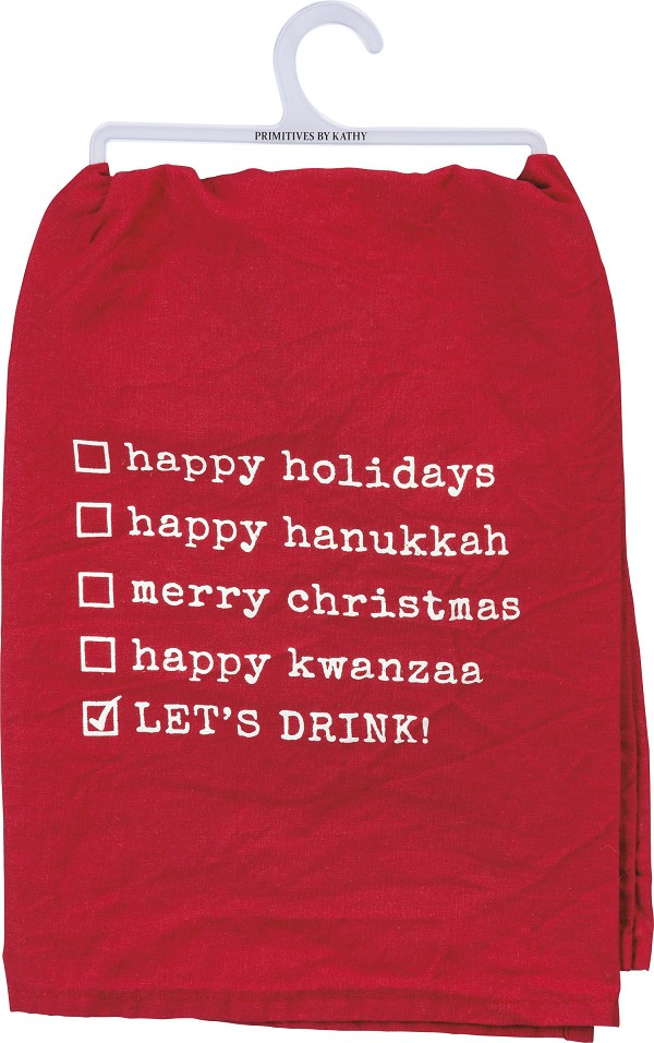 Let's Drink - Holiday Dish Towel