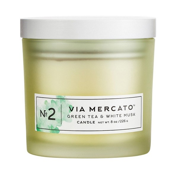 Green Tea & White Musk No.2 - Via Mercato - Soy Candle - 8 oz