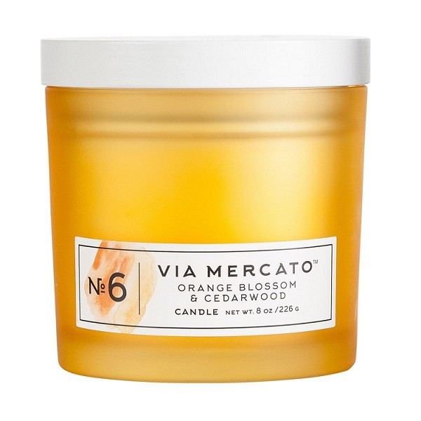Orange Blossom & Cedarwood No.6 - Via Mercato - Soy Candle - 8 oz
