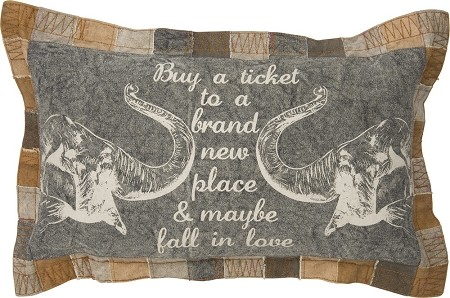 Buy A Ticket To A Brand New Place & Maybe Fall In Love - Decor Pillow