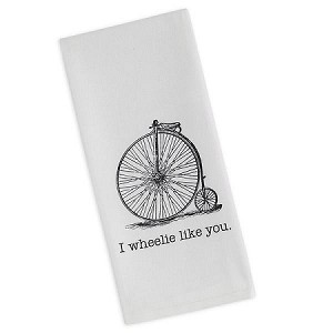 """I Wheelie Like You"" - Printed Dish Towel"