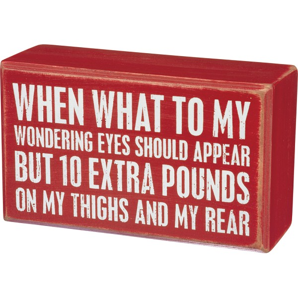 10 Extra Pounds - Box Wall Sign